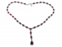 27.25ct Ruby Necklace (GAL Certified) at PristineAuction.com