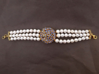 White Pearl & 7.00ct Tanzanite Bracelet (GAL Certified) at PristineAuction.com