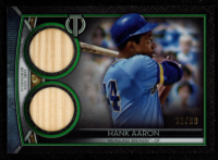 Hank Aaron 2020 Topps Tribute Dual Relics Green #SDRHA at PristineAuction.com