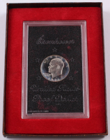 1971 Eisenhower Proof Dollar with Original Brown Box at PristineAuction.com