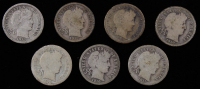 Lot of (7) Barber Dimes with 1909, (2) 1910, 1911, (2) 1912 & 1914 at PristineAuction.com