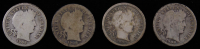 Set of (4) 1908 Barber Dimes with P, D, O & S at PristineAuction.com