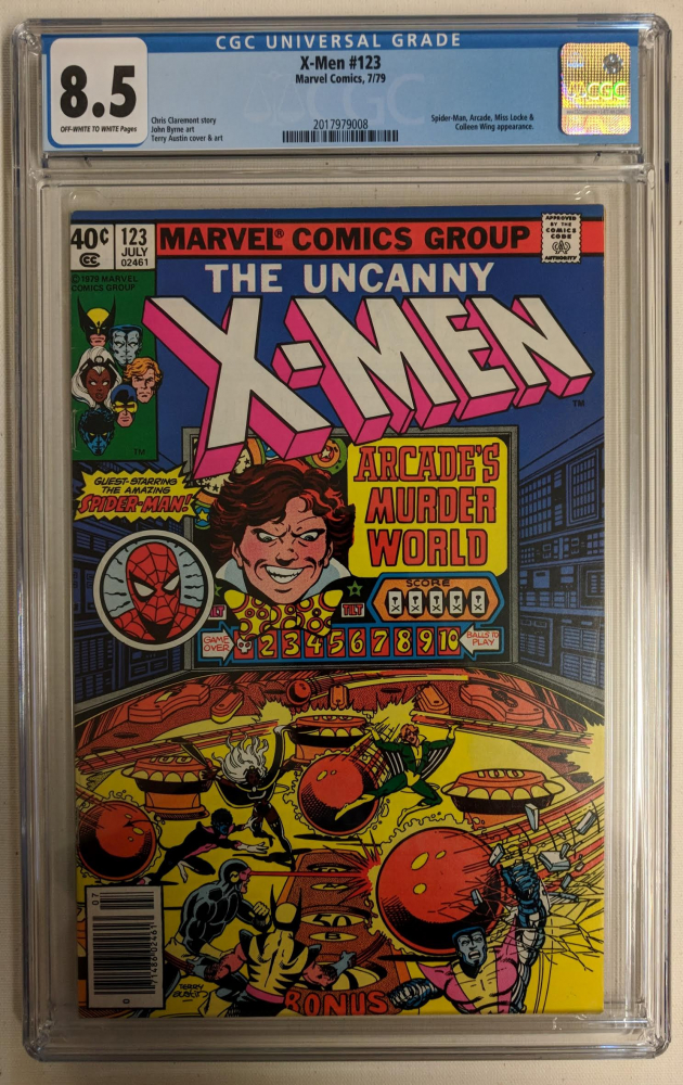 "1979 ""The Uncanny X-Men"" Issue #123 Marvel Comic Book (CGC 8.5) at PristineAuction.com"