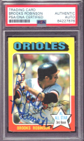 Brooks Robinson Signed 1975 Topps #50 (PSA Encapsulated) at PristineAuction.com