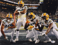 Aaron Jones Signed Packers 11x14 Photo (Beckett COA) at PristineAuction.com