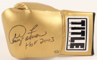 """George Foreman Signed LE TITLE Boxing Glove Inscribed """"HOF 2003"""" (JSA COAA) at PristineAuction.com"""