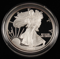 2004-W American Silver Eagle $1 One Dollar Coin With Display Case at PristineAuction.com
