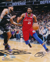 Joel Embiid Signed 76ers 8x10 Photo (Fanatics Hologram) at PristineAuction.com