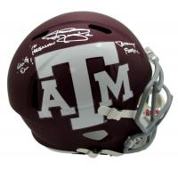 "Johnny Manziel Signed Texas A&M Aggies Full-Size Helmet Inscribed ""'12 Heisman"", ""Gig Em!"", & ""Johnny Football"" (JSA COA) at PristineAuction.com"
