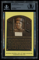 Grover Alexander Authentic Handwritten Word Gold Hall of Fame Postcard (BGS Encapsulated) at PristineAuction.com