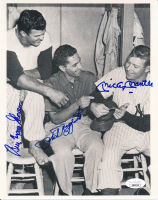 Mickey Mantle, Phil Rizzuto, & Bill Skowron Signed Yankees 8x10 Photo (JSA LOA) at PristineAuction.com