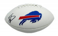 Stefon Diggs Signed Bills Logo Football (Beckett COA) at PristineAuction.com