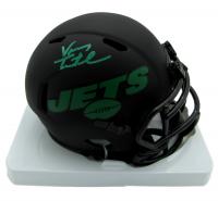 Vinny Testaverde Signed Jets Eclipse Alternate Speed Mini Helmet (JSA COA) at PristineAuction.com