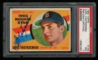 Carl Yastrzemski Signed 1960 Topps #148 RS RC (PSA 7) at PristineAuction.com