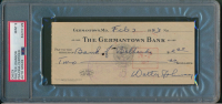 Walter Johnson Signed Hand-Written 1943 Personal Bank Check (PSA Encapsulated) at PristineAuction.com
