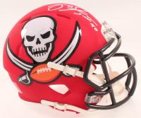 Mike Alstott Signed Buccaneers AMP Alternate Speed Mini Helmet (Schwartz Sports COA) at PristineAuction.com
