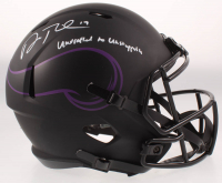 "Adam Thielen Signed Vikings Eclipse Alternate Full-Size Speed Helmet Inscribed ""Undrafted to Unstoppable"" (Beckett COA) at PristineAuction.com"