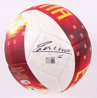 Andres Iniesta Signed Spain Logo Adidas Soccer Ball (Beckett COA) at PristineAuction.com