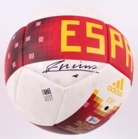 Andres Iniesta Signed Spain Logo Adidas Soccer Ball (Beckett COA) at PristineAuction.com