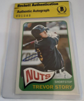 Trevor Story Signed 2014 Topps Heritage Minors #11 Baseball Card (Beckett Encapsulated) at PristineAuction.com