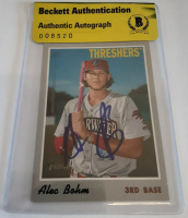 Alec Bohm Signed 2019 Topps Heritage Minors #133 Baseball Card (Beckett Encapsulated) at PristineAuction.com