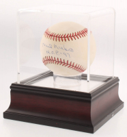 """Phil Niekro Signed ONL Baseball Inscribed """"HOF 97"""" With High Quality Display Case (PSA COA) at PristineAuction.com"""