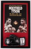 Mike Tyson Signed 18x29 Custom Framed Boxing Glove Display (Beckett COA) at PristineAuction.com