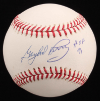 """Gaylord Perry Signed OML Baseball Inscribed """"HOF 91"""" (PSA Hologram) at PristineAuction.com"""