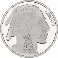 1 Troy Oz .999 Silver Round - Buffalo / Indian Head (Uncirculated) at PristineAuction.com