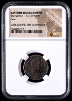 Theodosius I - AD 379-395 - Eastern Roman Empire Bronze Coin (NGC Encapsulated) at PristineAuction.com