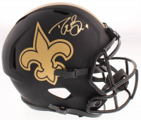 Drew Brees Signed Saints Eclipse Alternate Full-Size Speed Helmet (Beckett COA) at PristineAuction.com