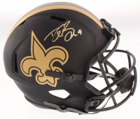 Drew Brees Signed Saints Eclipse Alternate Full-Size Speed Helmet (Beckett COA & Brees Hologram) at PristineAuction.com