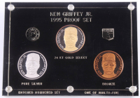 1995 Ken Griffey Jr. Coin Set with Gold, Silver, & Bronze Coins at PristineAuction.com