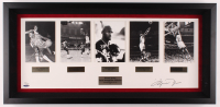 "Michael Jordan Signed LE ""Career Retrospective Collection"" 16x37 Custom Framed with (5) Photos (UDA COA) at PristineAuction.com"