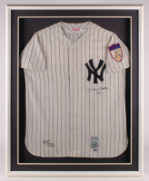 "Mickey Mantle Signed LE Yankees 33x41.5 Custom Framed Jersey Display Inscribed ""No. 7"" (Upper Deck COA) at PristineAuction.com"