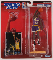 Magic Johnson 1998 Starting Lineup Figure With Collectible Card at PristineAuction.com