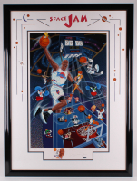 "Michael Jordan Signed LE 1996 ""Space Jam"" 36x48 Custom Framed Serigraph (UDA Hologram) at PristineAuction.com"