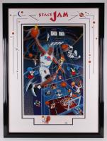 """Michael Jordan Signed LE 1996 """"Space Jam"""" 36x48 Custom Framed Serigraph (UDA Hologram) at PristineAuction.com"""