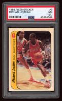 Michael Jordan 1986-87 Fleer Stickers #8 (PSA 7) (ST) at PristineAuction.com