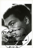 """Muhammad Ali Signed 5x7 Photo Inscribed """"Love Serve God He Is The Gone 8-10-89"""" (PSA LOA) at PristineAuction.com"""