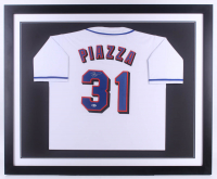 Mike Piazza Signed 35.5x43.5 Custom Framed Jersey (Beckett COA) at PristineAuction.com