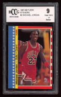 Michael Jordan 1987-88 Fleer Stickers #2 (BCCG 9) at PristineAuction.com