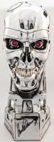 Arnold Schwarzenegger Signed T2 T800 EndoSkeleton Resin Skull Statue (JSA ALOA) at PristineAuction.com