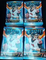 Lot of (4) 2018 Panini Playoff Football Card Hanger Boxes with (60) Cards Each at PristineAuction.com