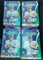 Lot of (4) 2019 Panini Absolute Football Hanger Boxes with (50) Cards Each at PristineAuction.com