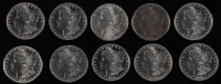 Lot of (10) 1880-1889 Morgan Silver Dollars at PristineAuction.com