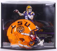 Joe Burrow Signed LE LSU Tigers Full-Size Authentic On-Field Speed Helmet with Custom Curve Display (Fanatics Hologram) at PristineAuction.com