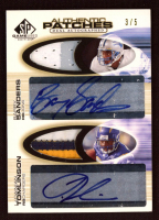 2004 SP Game Used Edition Authentic Patches Autographs Dual #ST Barry Sanders / LaDainian Tomlinson at PristineAuction.com