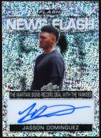 Jasson Dominguez 2019 Leaf Flash News Flash #NFJD1 SP EXCH Autograph Card at PristineAuction.com