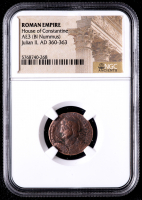 Julian II - AD 360-363 - AE3 Bi Nummus - Roman Empire Bronze Coin (NGC Encapsulated) at PristineAuction.com